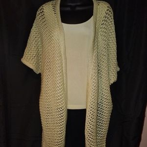 CHICO'S Crochet Cardigan with Matching Tank